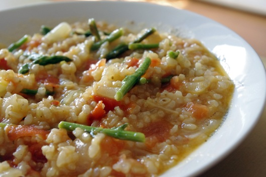 Špargljeva rižota